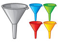 Plastic funnel domestic use plastic funnel transferring liquid Royalty Free Stock Images