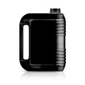 Plastic gallon black jerry can isolated on a white background with clipping work path Royalty Free Stock Photo