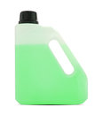 Plastic gallon container on white with clipping path Royalty Free Stock Photo
