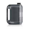 Plastic gallon gray jerry can isolated on a white background with clipping work path Stock Images