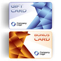 Plastic Gift and Bonus Cards Royalty Free Stock Photo
