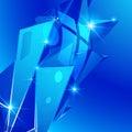 Plastic grain fond with blue 3d geometric template