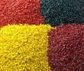 Plastic granule masterbatches Royalty Free Stock Photo