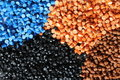 Plastic granules Royalty Free Stock Images