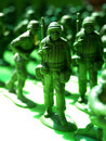 Plastic green army 2 Royalty Free Stock Photo