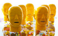 Plastic heads Royalty Free Stock Image