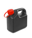 Plastic jerrycan isolated on white background Stock Photos