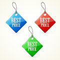 Plastic labels set colorful eps Stock Photo