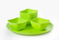 Plastic  microwave bowl and plate Stock Photography