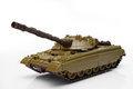 Plastic model of a battle tank Royalty Free Stock Photo