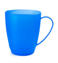 Plastic mug on a white background Stock Photography
