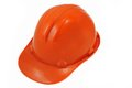 Plastic orange safety helmet. Stock Images