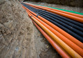 Plastic pipes Royalty Free Stock Photo