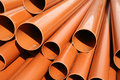 Plastic Pipes Construction Materials Royalty Free Stock Photography
