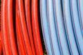 Plastický trubky barvy to sítí