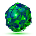 Plastic pixel dimensional object emerald dotted geometric isola element Stock Photos