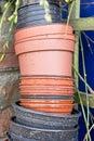 Plastic plant pots Royalty Free Stock Photo