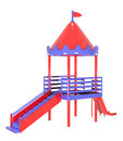 Plastic playground red purple colors image Royalty Free Stock Photo
