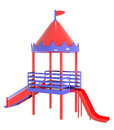 Plastic playground red purple colors Royalty Free Stock Photo