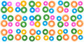 Plastic rings backgrounds Royalty Free Stock Images