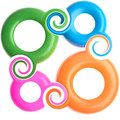 Plastic rings backgrounds Stock Photo