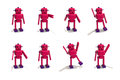 Plastic Robot Girl in Different Poses Royalty Free Stock Photo