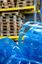 Plastic rolls in warehouse Royalty Free Stock Photo