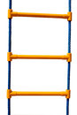 Plastic rope ladder for children isolated on a white background Royalty Free Stock Image