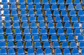 Plastic seats for concerts close up Royalty Free Stock Images
