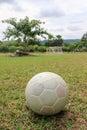 Plastic soccer ball Royalty Free Stock Photo