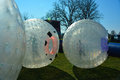 Plastic sphere Zorbs Royalty Free Stock Photo