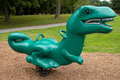 Plastic spring dinosaur ride Stock Images