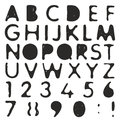 Plastic Stencil Alphabet & Numbers with Ball Pen