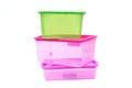 Plastic storage box Royalty Free Stock Photo