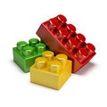 Plastic toy blocks Royalty Free Stock Photos