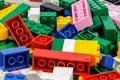 plastic toy blocks Royalty Free Stock Photo