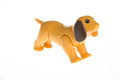 Plastic toy dog Royalty Free Stock Photo
