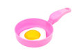 Plastic toy pan and fried egg Royalty Free Stock Photo