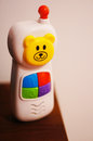Plastic toy phone Royalty Free Stock Photo