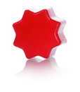 Plastic toy red construction isolated on white background Royalty Free Stock Images