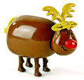 Plastic toy reindeer Stock Images