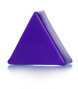 Plastic toy triangular violet construction isolated on white Royalty Free Stock Photos