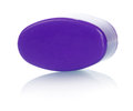 Plastic toy violet construction isolated on white background Royalty Free Stock Photography