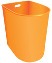 Plastic trash can garbage container without a lid vector illustration Stock Images