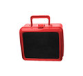 Plastic travel suitcase ready Royalty Free Stock Photo