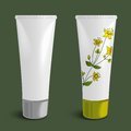 Plastic tubes, cosmetic packaging template