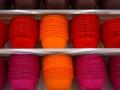 Plastic utensils in the stacks Royalty Free Stock Image