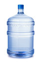 Plastic water bottle five gallon isolated on white Stock Photos