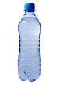 Plastic water bottle isolated on white Royalty Free Stock Photography