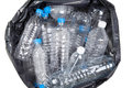 Plastic water bottles in the trash heap Royalty Free Stock Photo